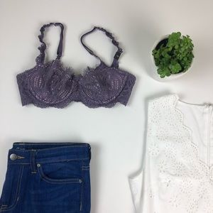 Victoria Secret Dream Angels Purple Lace Bra